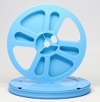 Super 8 400 Ft. Movie Film Reel & Round Vented Can Set (Blue Case Blue Reel)