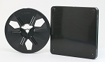 Super 8 400 Ft. Archival Autoloading Movie Film Reel & Vented Can Set (Black)