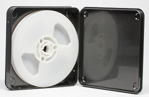Super 8 200 ft. (5 in.) Movie Film Reel (white) & Archival Vented Storage Case
